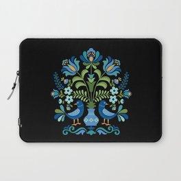 Hungarian Folk Design Blue Birds Laptop Sleeve