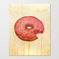 donut Canvas Prints featuring Donut by colorlabo