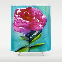 peony Shower Curtains featuring Peony by Mai Autumn