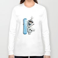 olaf Long Sleeve T-shirts featuring SNOW MAN OLAF by BeautyArtGalery
