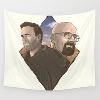 breaking bad Wall Tapestries featuring Breaking Bad by Mr Cedric