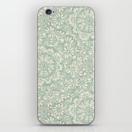 Sage Medallion with Butterflies & Daisy Chains iPhone Skin