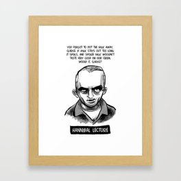 Hannibal Lecture Framed Art Print