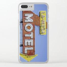 La-Mesa Motel Clear iPhone Case