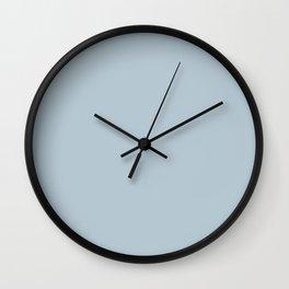Fishing Reflection ~ Light Blue Chiffon Wall Clock