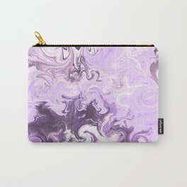 Abstract modern lavender burgundy watercolor marble pattern Carry-All Pouch
