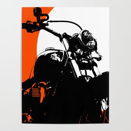 """Motorcycle wheel"" - Classic Car Lovers Poster"