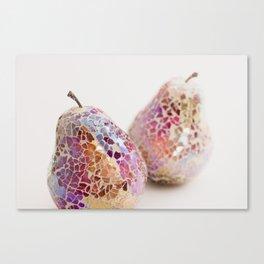 Pear Triptych - A pair Canvas Print