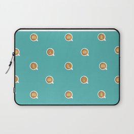 Connecting Over Coffee Travel Mug Icons (Teal) Laptop Sleeve