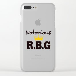 Notorious R.B.G Clear iPhone Case