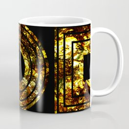 Golden Shapes - Abstract, black and gold, geometric, metallic textured artwork Coffee Mug