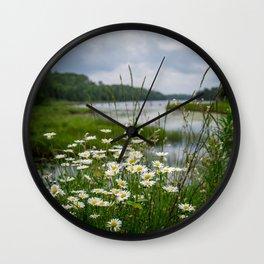 Boundary Waters Wildflowers Wall Clock