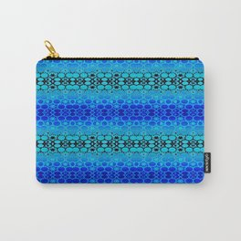 Retro India Lounge Pattern (tropical blue) Carry-All Pouch