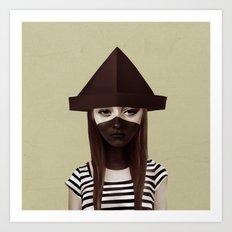 Ceci n'est pas un chapeau Art Print