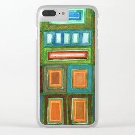 Beautiful Pattern with Silver glowing in the Dark Clear iPhone Case