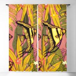 Angel Fish #3 Blackout Curtain