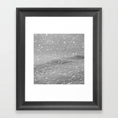 Glitter Silver Framed Art Print