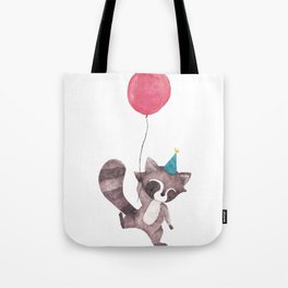 Woodland Critters - Birthsay Raccoon Tote Bag