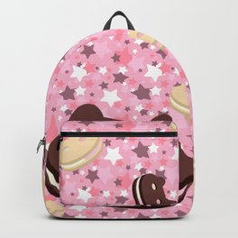 He left his family behind! Cookie Cat! Backpack