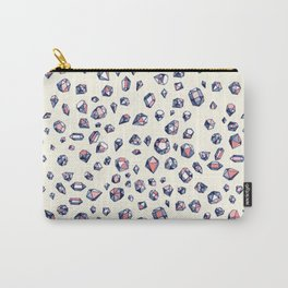 Navy & Coral Crystals Carry-All Pouch