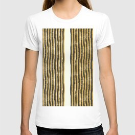 Zen Stripe Block Print Mustard T-shirt