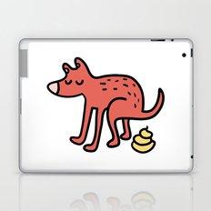 Pooping dog Laptop & iPad Skin