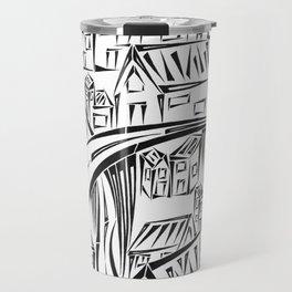 Town Circled By Roads Travel Mug