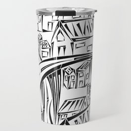 Town Circled By Roads Travel Mug