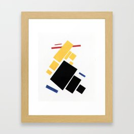 Airplane by Kazimir Malevich - Vintage Painting Framed Art Print