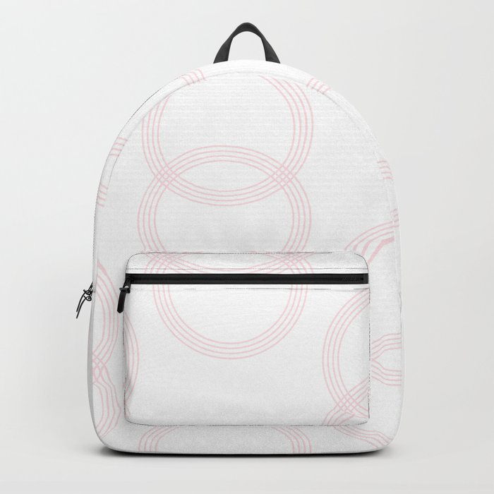 Simply Infinity Link in Flamingo Pink on White Backpack