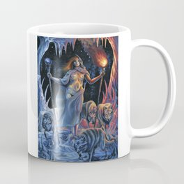 Two of Wands - Woman & Wolves Coffee Mug