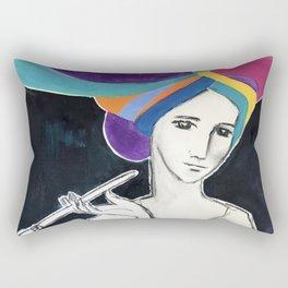 Deep In Thought Rectangular Pillow