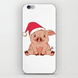 Christmas Pig iPhone Skin