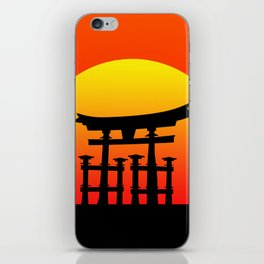 Sunset and Torii in Japan iPhone Skin