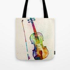 Violin Abstract Watercolor Tote Bag