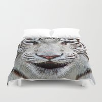 patrick Duvet Covers featuring BLUE-EYED BOY by Catspaws