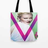 emily rickard Tote Bags featuring Emily by Vincent Tham