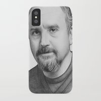 louis ck iPhone & iPod Cases featuring Louis CK Portrait by Olechka