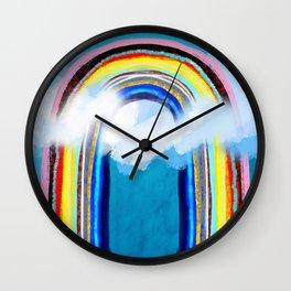 Awesome Rainbow Cloudy Wall Clock