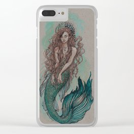 Mermaid Sea Enchanter Clear iPhone Case