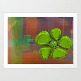 FLOWER 2 GREEN Art Print