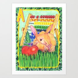 A is for Aardvark Art Print