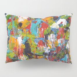 """The Abstract Mediterranean"" Acrylic Painting by Noora Elkoussy Pillow Sham"