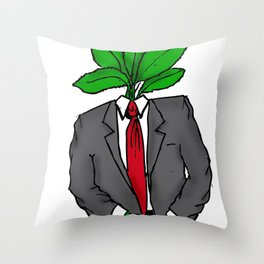 Mint Romney Throw Pillow