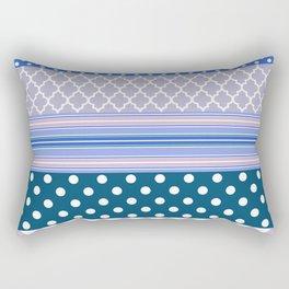 Abstract geometric pastel color chevron polka dots pattern Rectangular Pillow