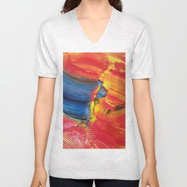 Abstract2 Unisex V-Neck