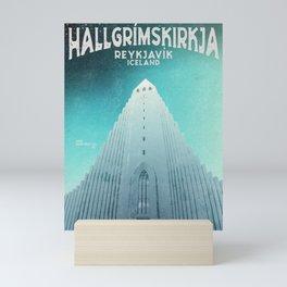 Hallgrimskirkja - Reykjavik, Iceland Mini Art Print