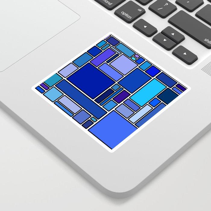 50 shades of blue Sticker