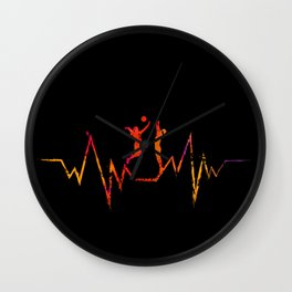 Volleyball Heartbeat Cool Gift for Sport Lovers Premium graphic Wall Clock