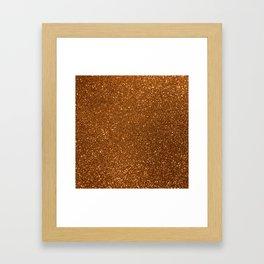 Soft Rose Gold Glitter Framed Art Print